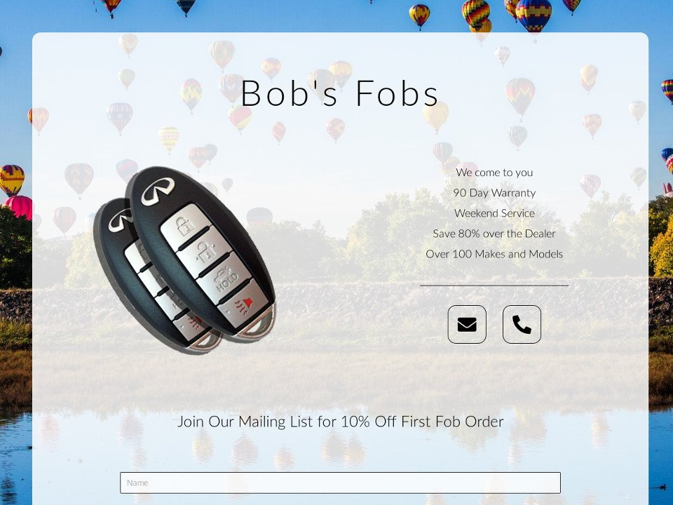 Your Simple Website Solution Bobs Fobs
