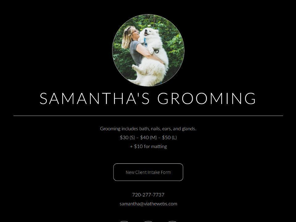 Your Simple Website Solution Samanthas Grooming
